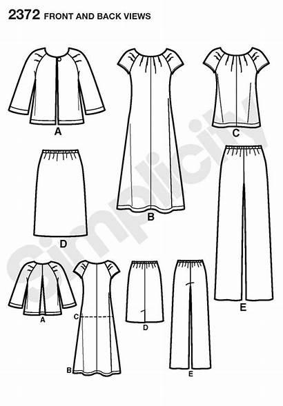 Simplicity 2372 Pattern Sewing Plus Patterns Sportswear