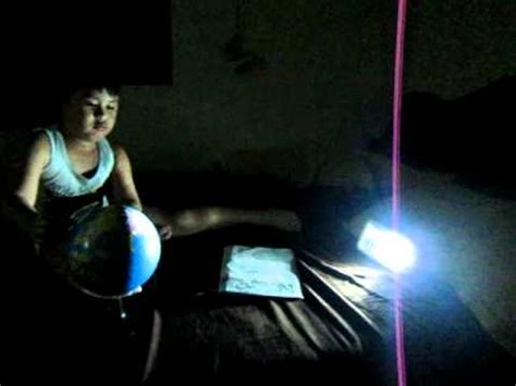 night  day globe experiment youtube