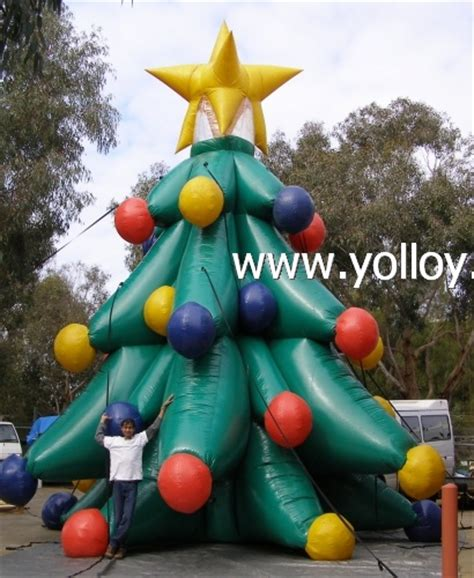 large blow up christmas decorations yolloy up outdoor tree for sale
