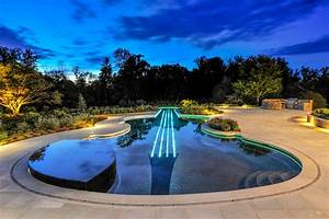 Music themed luxury swimming pool design wins gold bergen for Swimming pool and spa design