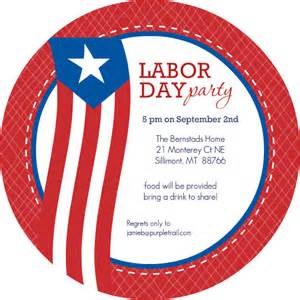 Labor Day Party Invitation Template
