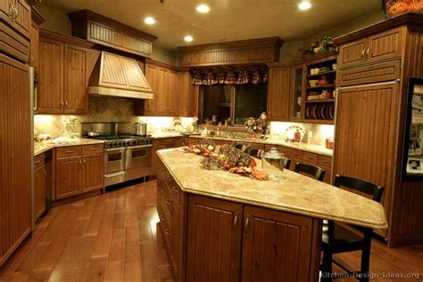 pictures  kitchens traditional medium wood golden