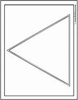Triangle Coloring Shape sketch template