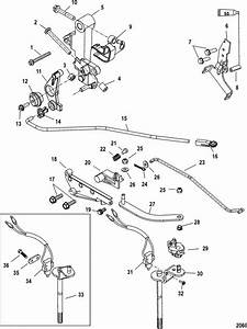 Mercury Outboard Throttle Cable Adjustment Diagram