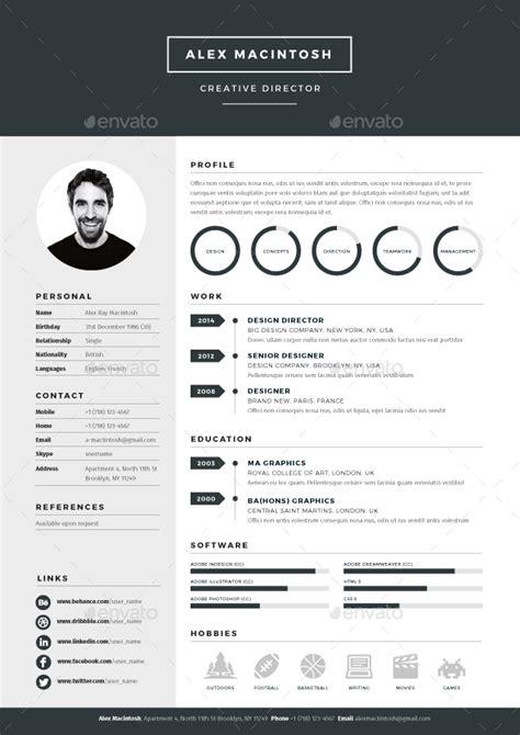 Mono Resume By Ikonome Graphicriver