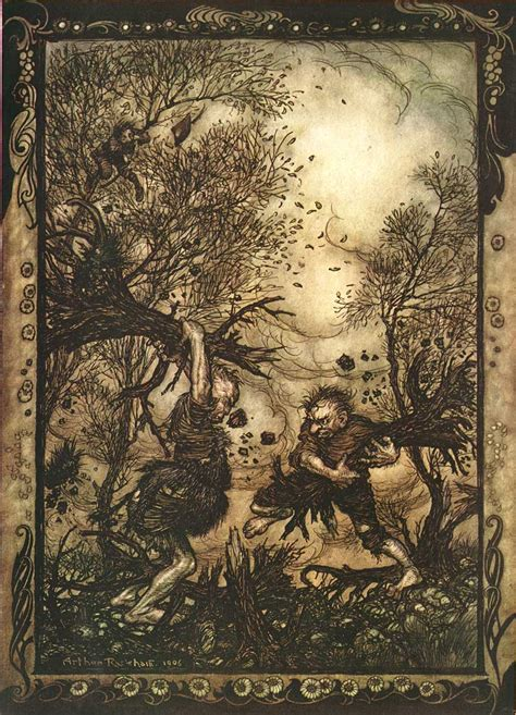 Illustration Arthur Rackham's Grimm's Fairy Tales
