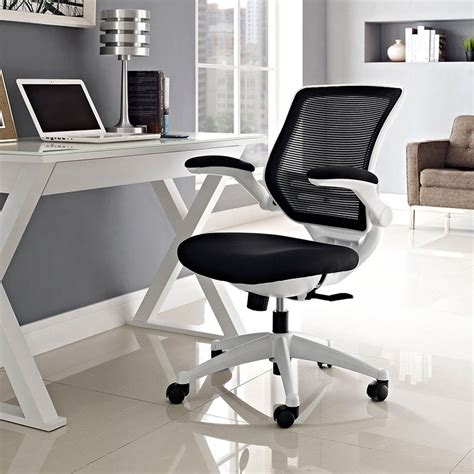 ede fabric black white modern office chair eurway