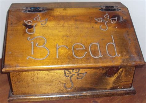 country kitchen bread company vintage large kitchen wooden bread box ebay 5997