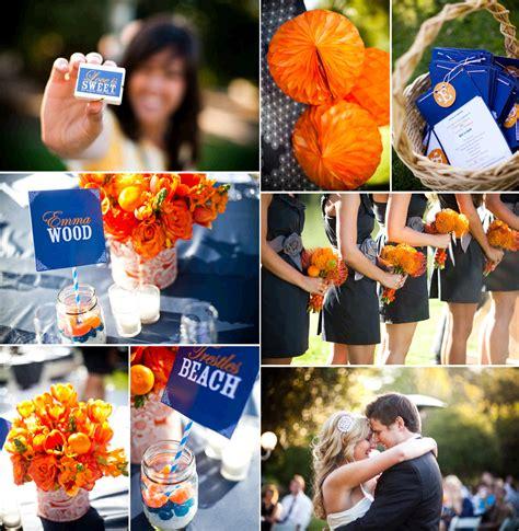 march madness wedding ideas orange blue wedding reception