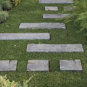Leroy Merlin Pas Japonais : traverse pierre reconstitu e imitation bois stonewood ~ Dailycaller-alerts.com Idées de Décoration