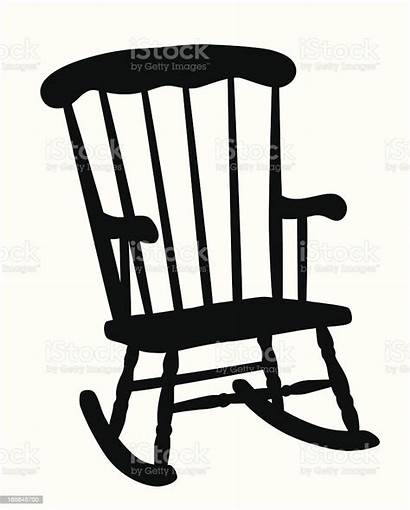 Rocking Chair Silhouette Vector Clip Illustration Porch