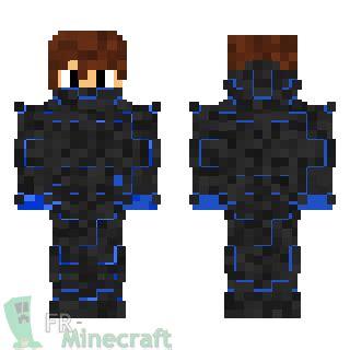 minecraft skin minecraft nano armure bleue