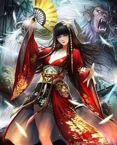Original, Fantasy, Character, Beauty, Kimono, Girl, Long, Hair, Wallpapers, Hd, Desktop, And
