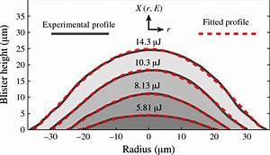 Colour Online  Experimentally Measured Blister Profiles