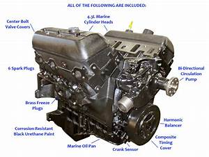 4 3l Vortec Base Marine Engine  1996