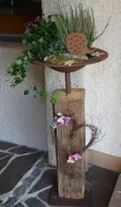 Säulen Aus Holz : s ulen mit pflanzk beln sind echte blickf nger f r ihr haus tolle inspirationsideen diy ~ Orissabook.com Haus und Dekorationen