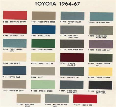 cruiser color codes fj40 paint color chart toyota color