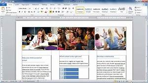 pamphlet maker microsoft word make a brochure from scratch in word 2010 youtube