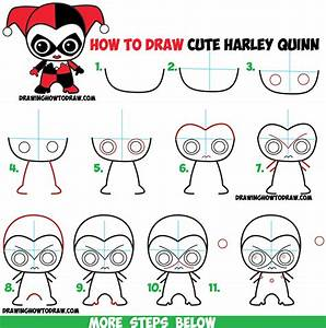 How to Draw Cute Chibi Harley Quinn from DC Comics in Easy ...