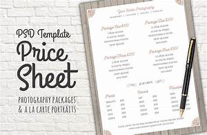 Price Sheet Template PSD ~ Templates on Creative Market