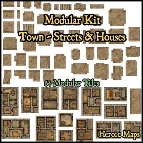 heroic maps modular kit town streets houses