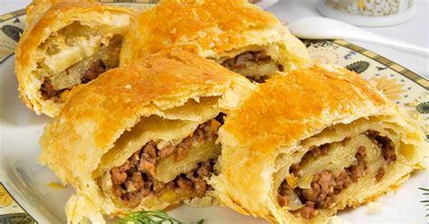 Kārtainās mīklas pīrādziņi ar gaļu