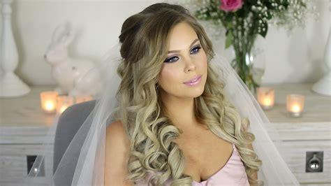 My Wedding Hair Tutorial Princess Hair Style   YouTube