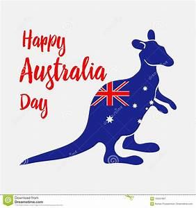 Australia Day. National Holiday. Kangaroo Painted In Flag ...