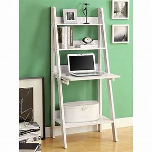 Monarch Specialties I 7040 Ladder Bookcase with Drop-Down