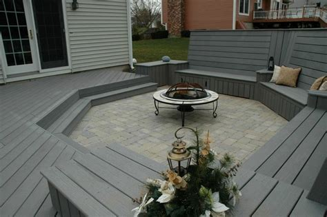 unique deck and patio combination design in middletown ct