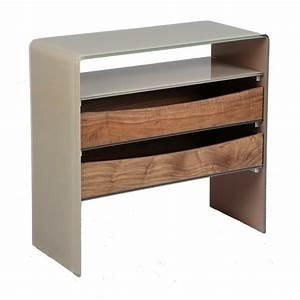 Console Verre Et Bois : console verre et bois talpa univers petits meubles tousmesmeubles ~ Teatrodelosmanantiales.com Idées de Décoration