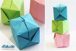 Anleitung Schachtel Falten : origami w rfel falten einfache anleitung zum basteln ~ Yasmunasinghe.com Haus und Dekorationen