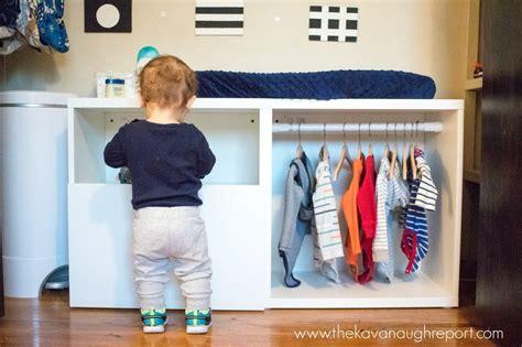 Ikea Besta Closet by Montessori Toddler Wardrobe Ikea Besta Hack