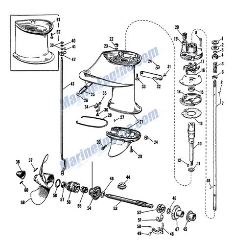 20 Hp Johnson Outboard Diagram by Johnson Gearcase Parts For 1963 5 5hp Cd 20 Outboard