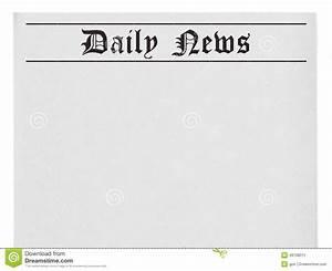 Newspaper Headline Template Daily News Title On Newspaper Stock Illustration Image