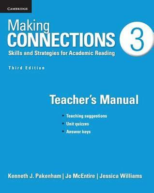 making connections level  teachers manual skills