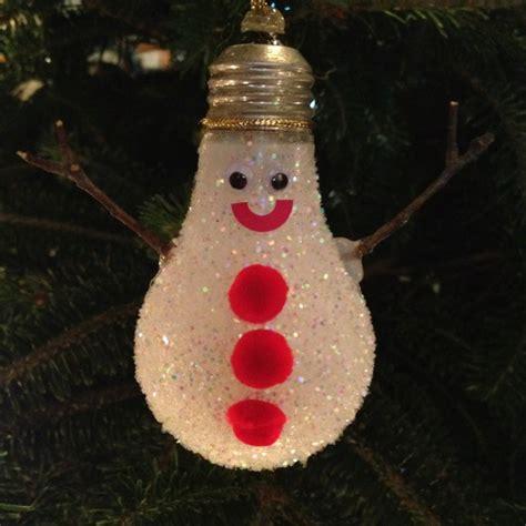 light bulb snow man christmas ornament christmas pinterest