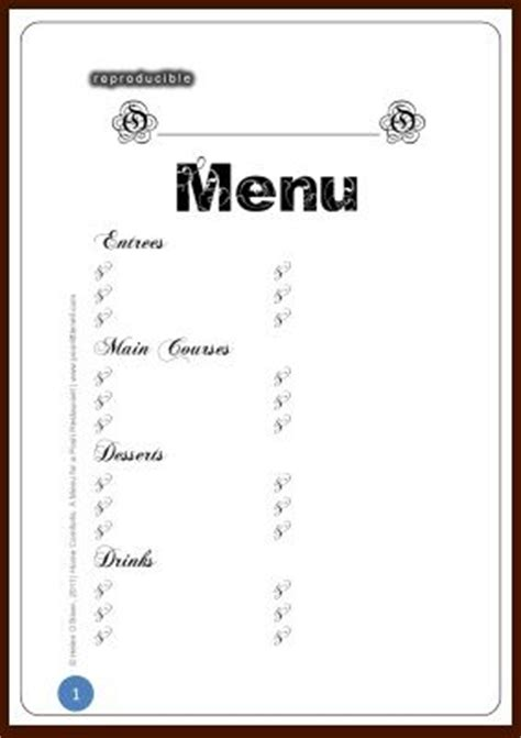 blank menu template free download 6 best images of printable blank restaurant menus free