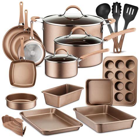 cookware nutrichef kitchen piece pots nonstick lids pfos heat ptfe pfoa resistant lacquer pans baking ware utensil oven bakeware resistan