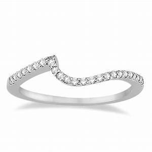 petite contour diamond wedding band swirl ring palladium 0 With swirl engagement ring with wedding band