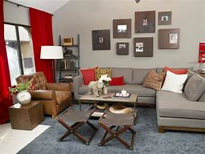 10 red and white living room design ideas yirrma for Black red and grey living room ideas