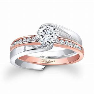 gorgeous rose gold and white gold wedding rings cherry marry With white gold and gold wedding rings