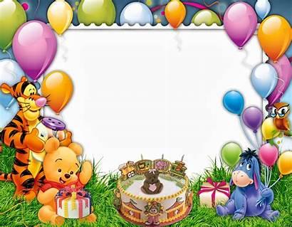 Birthday Frame Happy Frames Background Psd Cartoon