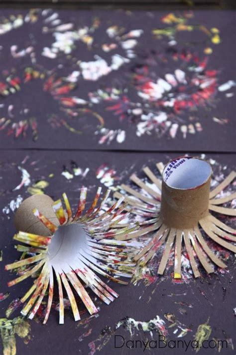 easy fireworks painting  kids diy crafts  school