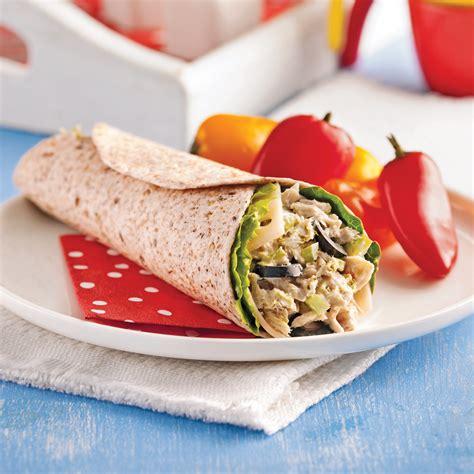 cuisine wrap wrap au thon et olives recettes cuisine et nutrition