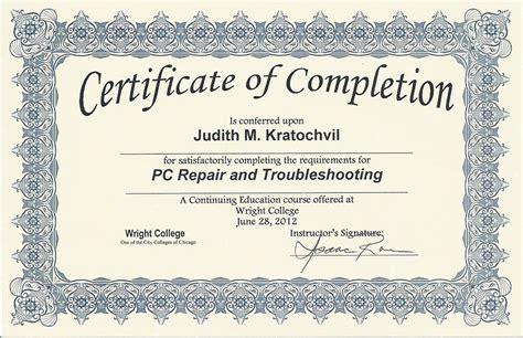 Certificate Of Completion Ojt Template Costumepartyrun