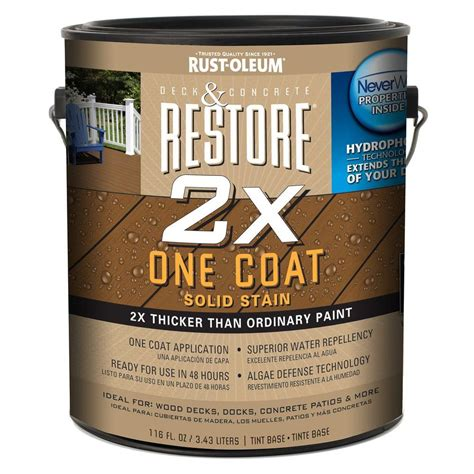 rust oleum restore  gal  tint base solid deck stain
