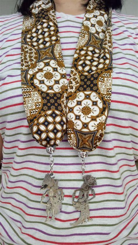 jual syal batik jual kalung syal batik wayang handmade 1 di lapak toko