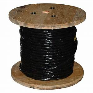 500 Ft Black Stranded Aluminum Use 2 Cable Wire Outdoor