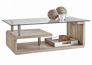 Table En Verre Rectangulaire : table basse verre et bois rectangulaire design en image ~ Teatrodelosmanantiales.com Idées de Décoration